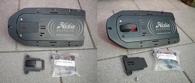 Alle benodigde small parts voor onze transducer installatie worden standaard bij de kayak geleverd.