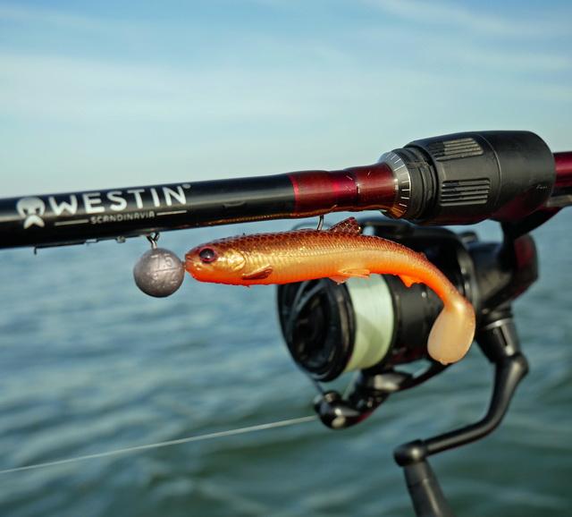 Mijn favoriete combinatie! De W6 Finesse TC 5-15 gram en de nieuw 9.5 cm BullTeez in de Goldrush kleur.