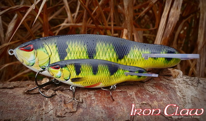 Iron Claw Phanto-G de ideale jerkbait in 4 kleuren.