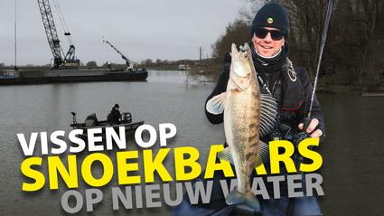 Op Snoekbaars vissen op nieuw water – Hartje winter!