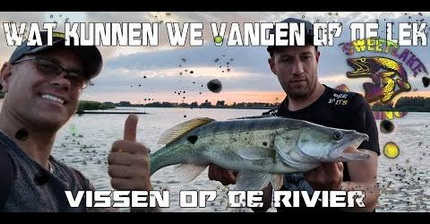 Wat kunnen we vangen op de lek? Vissen op de rivier.