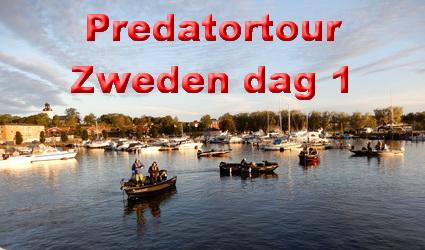 Predatortour Zweden eerste wedstrijddag. Grootste snoek 125cm!