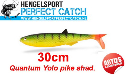 Quantum Yolo Pike Shad 30cm. De grote snoeken magneet!